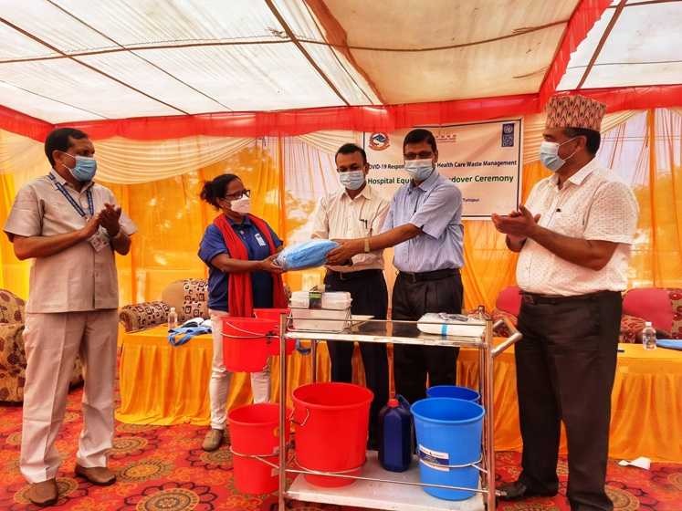 China-aided essential waste management supplies handed over to Rapti Provincial Hospital