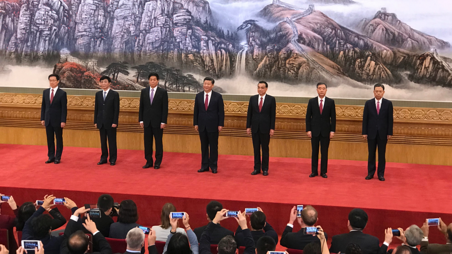 Xi Jinping and other key leaders of China's Communist Party