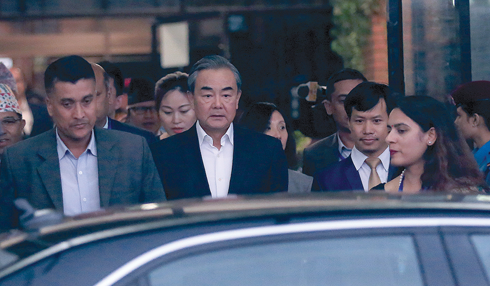 Chinese FM Wang arrives on three-day visit