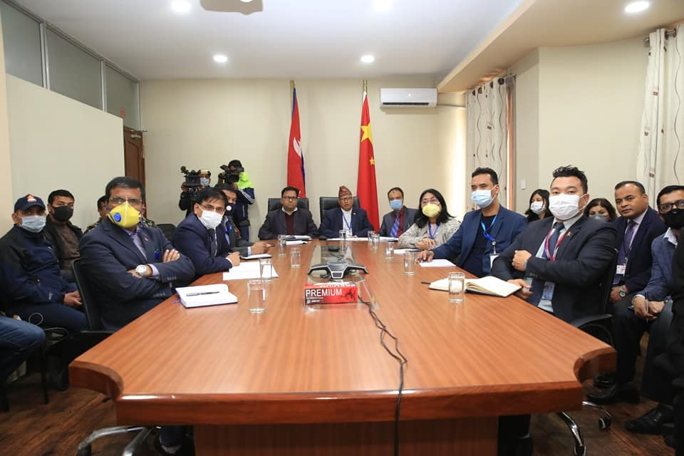 China holds video conference with various countries including Nepal on prevention and control of COVID-19