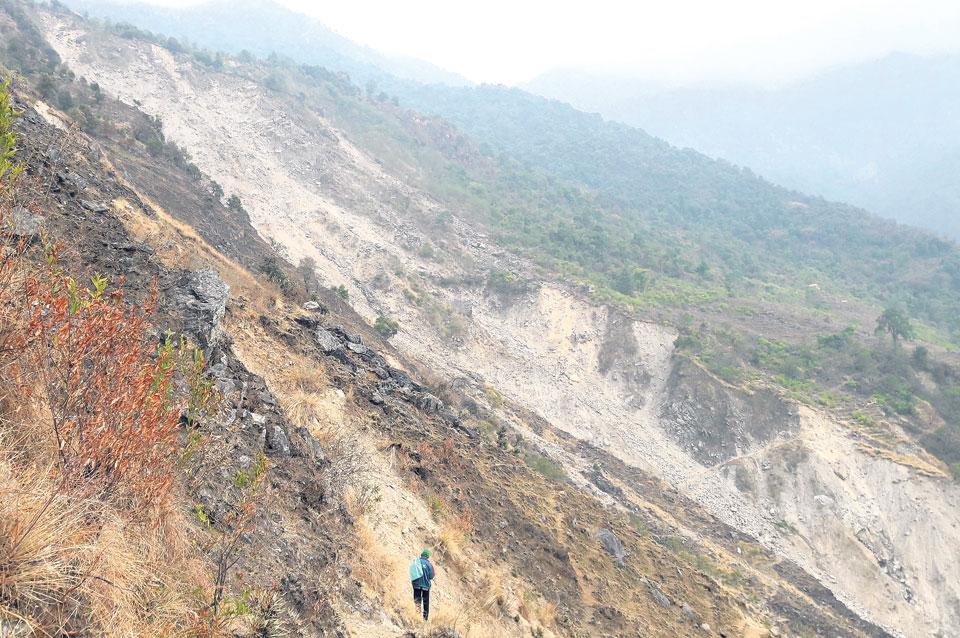 Village settlements at risk of being buried by landslides