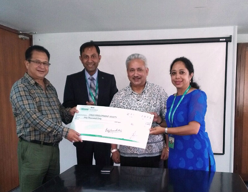 Citizens Bank supports Bal Bikas Samaj