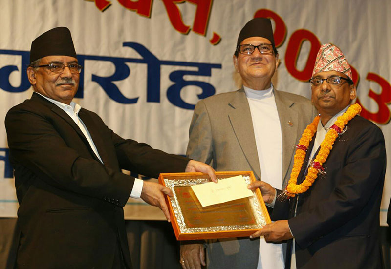 Secretary Subedi bags Civil Service Outstanding Award 2016