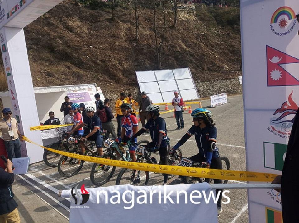 Laxmi Magar bags a SAG gold in cycling