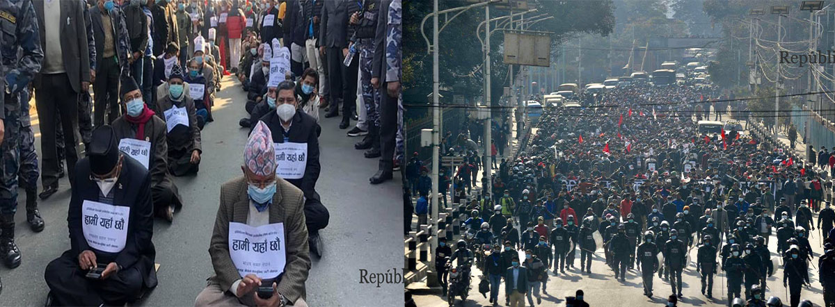 Dahal and Nepal to participate in sit-in at Maitighar today