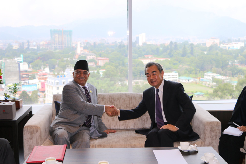 Chinese FM, NCP Chair Dahal discuss prospective visit of Chinese President Xi (with photos)