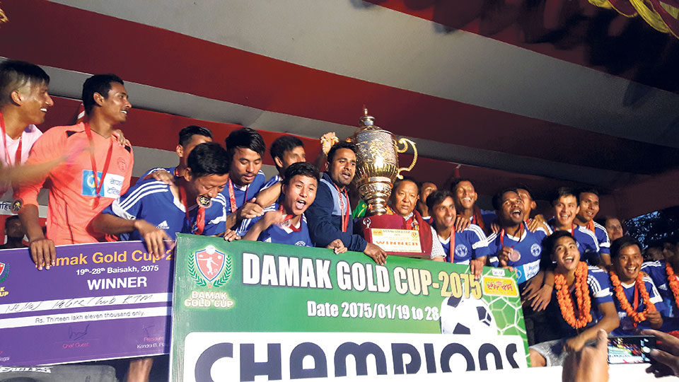 Nepal Police Club clinches Damak Gold Cup title