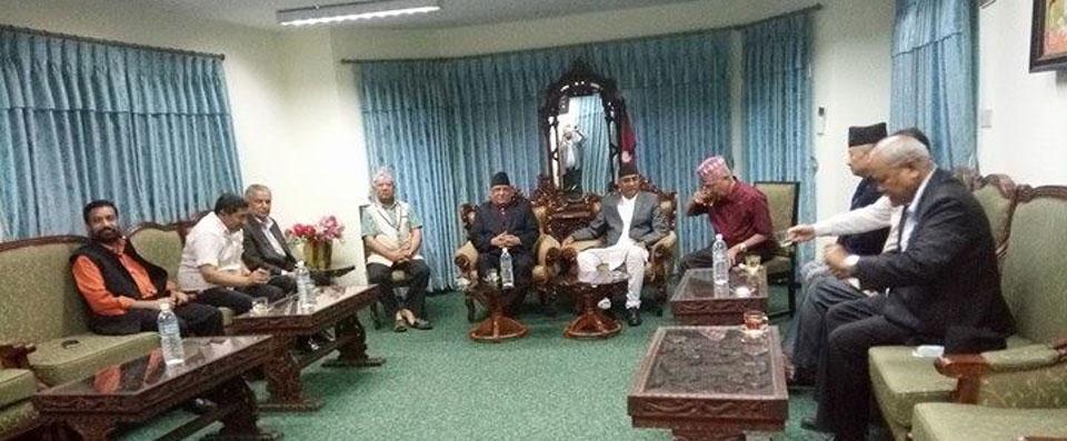 Meeting underway among top leaders to discuss RJPN election boycott (Update)