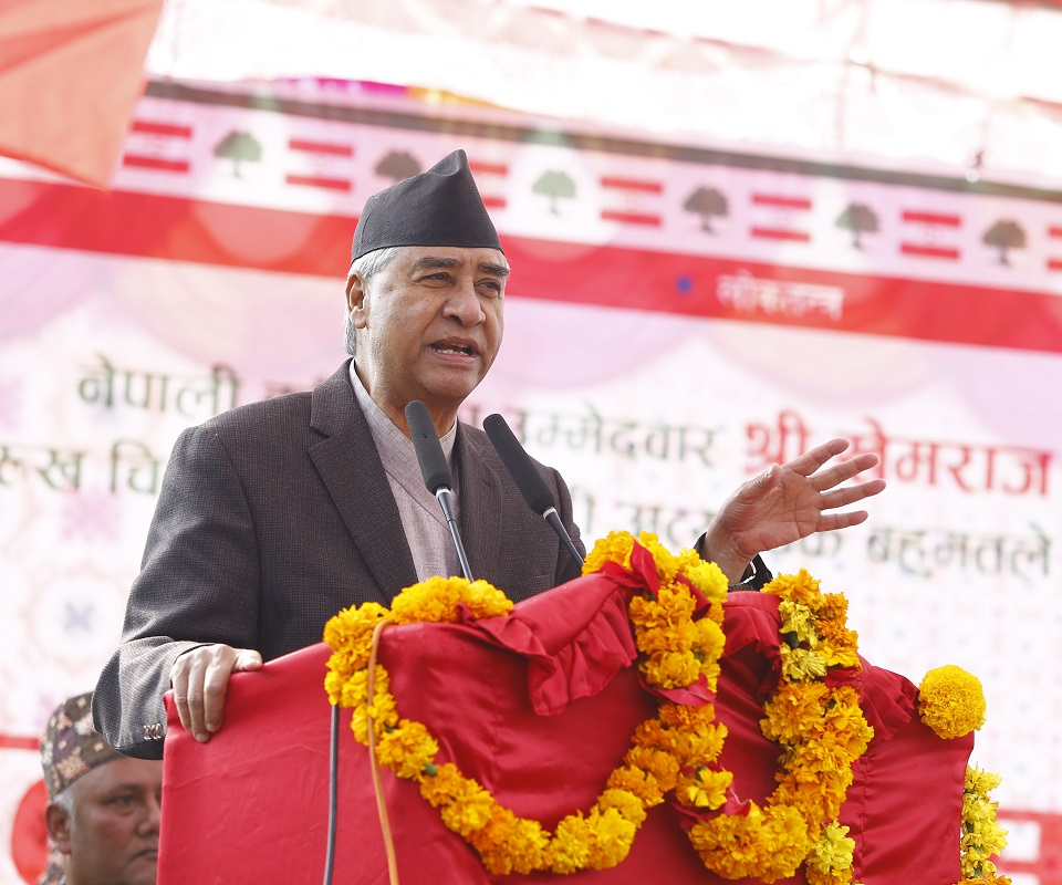 India's new map upon Oli's prior consent: Deuba