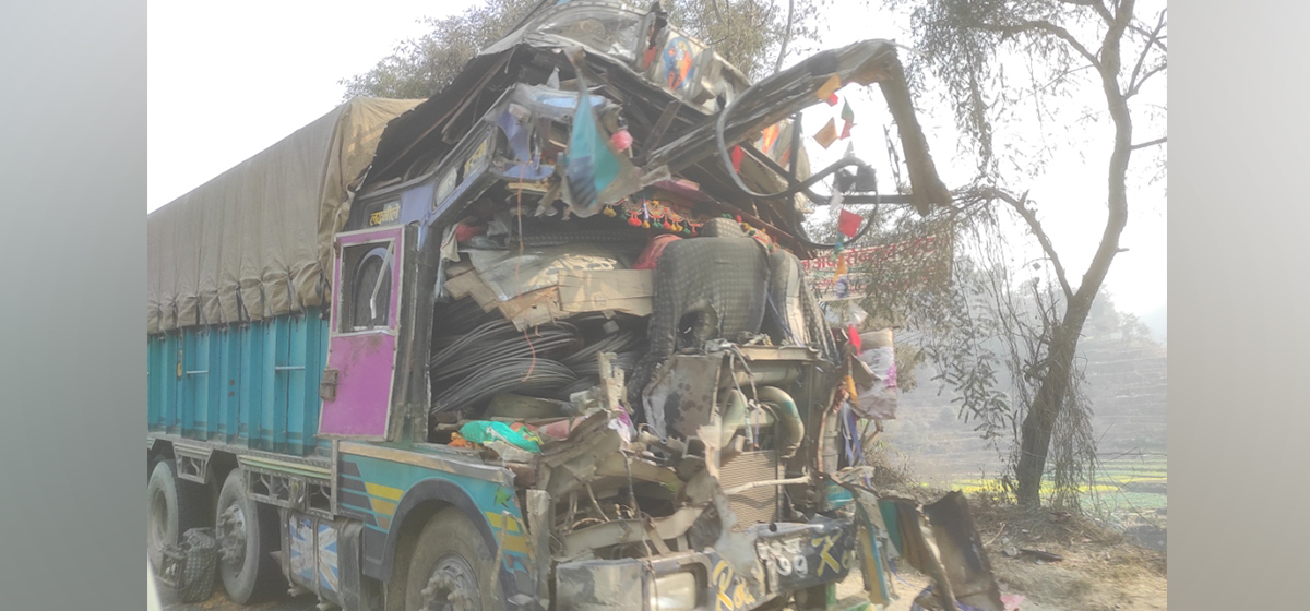 Two die, two injured in truck accident in Dhading