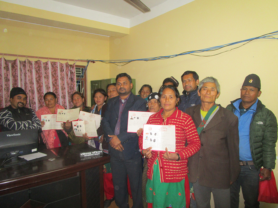 Quake victims provided land, ownership certificates