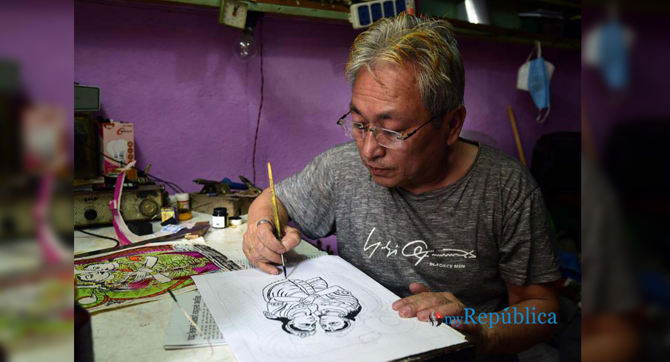 PHOTOS: Dhanraj still draws Naag posters though printed impressions rule market