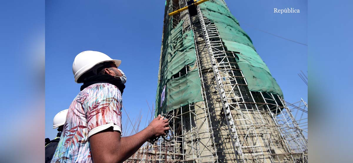 Dharahara reconstruction in photos