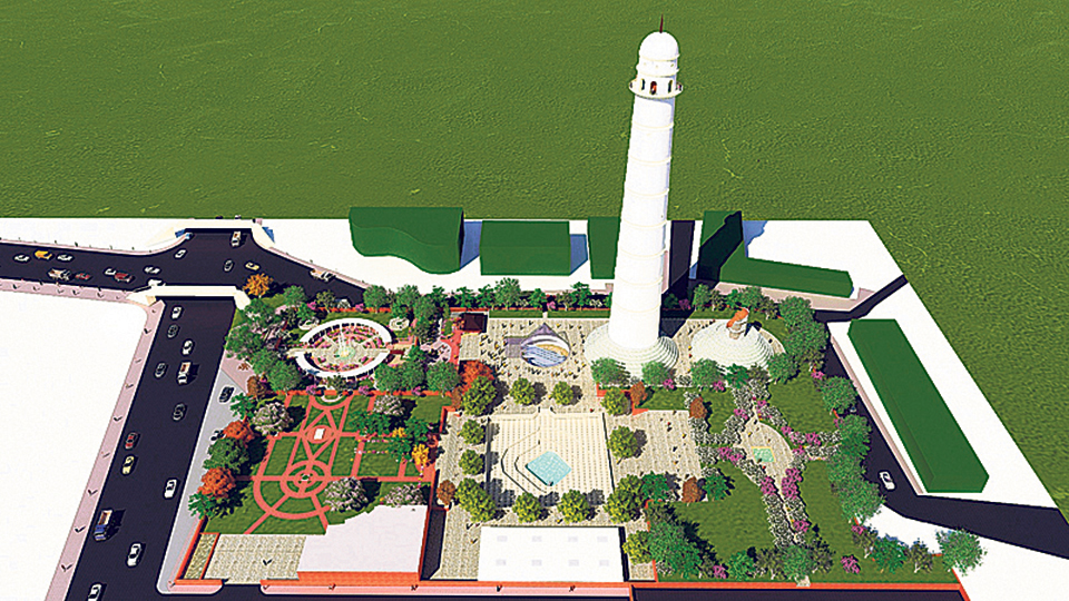 One fourth reconstruction work of Dharahara completed