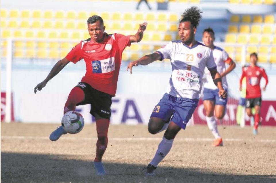 Dhimal free-kick helps Machhindra go level with Army
