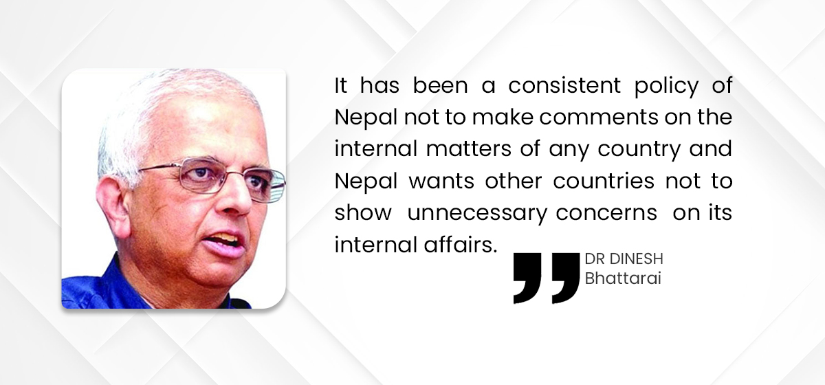 Missing principle in Nepal's foreign policy?