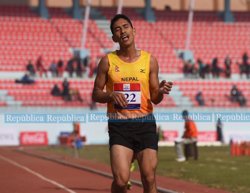 Nepal wins bronze as India dominates athletics