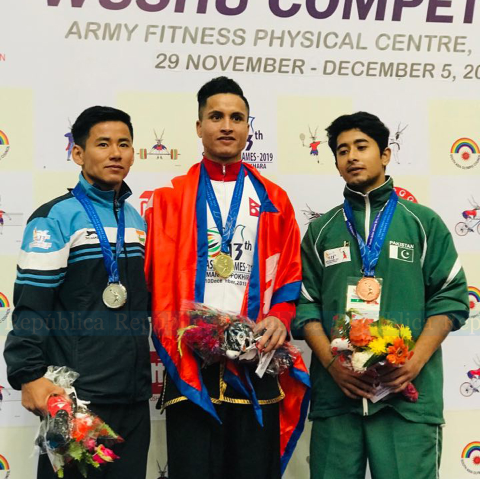 One more SAG gold for Nepal in wushu