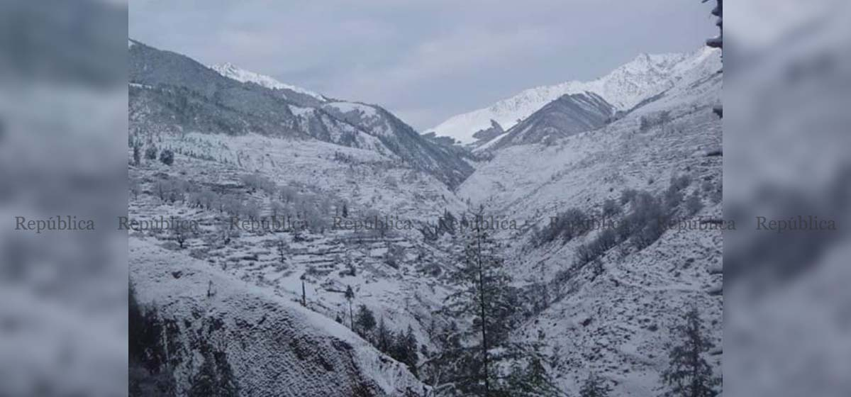 Snowfall cripples normal life in Dolpa as the district receives its first snow this winter