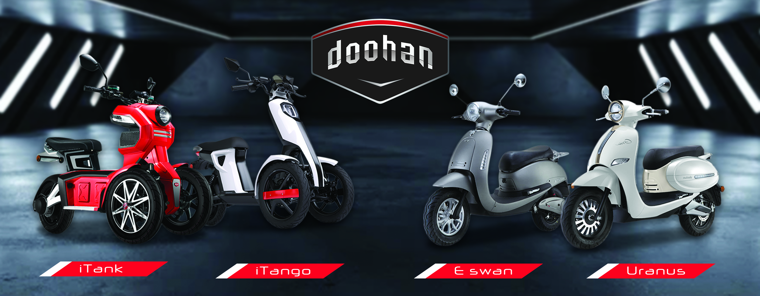 Kaliber Auto releases four Doohan electric smart scooters