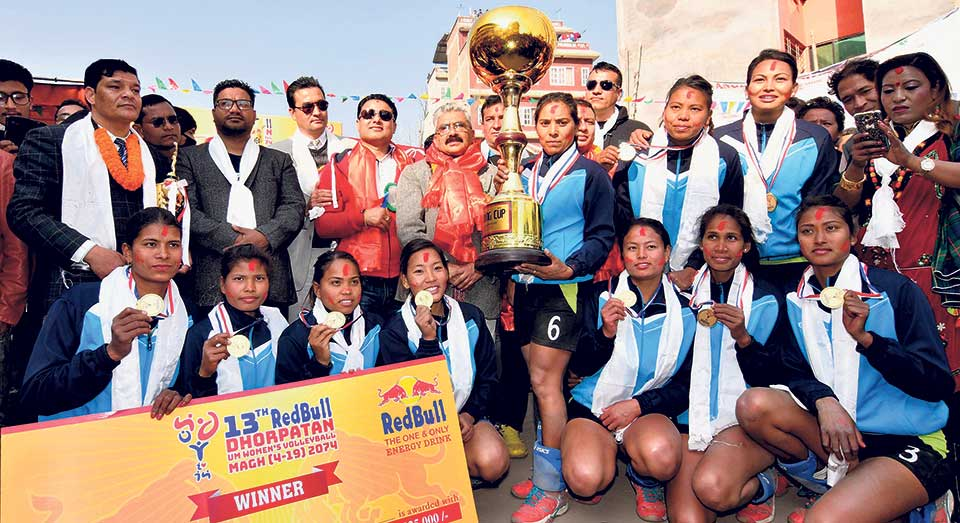 APF wins Dhorpatan women's volleyball