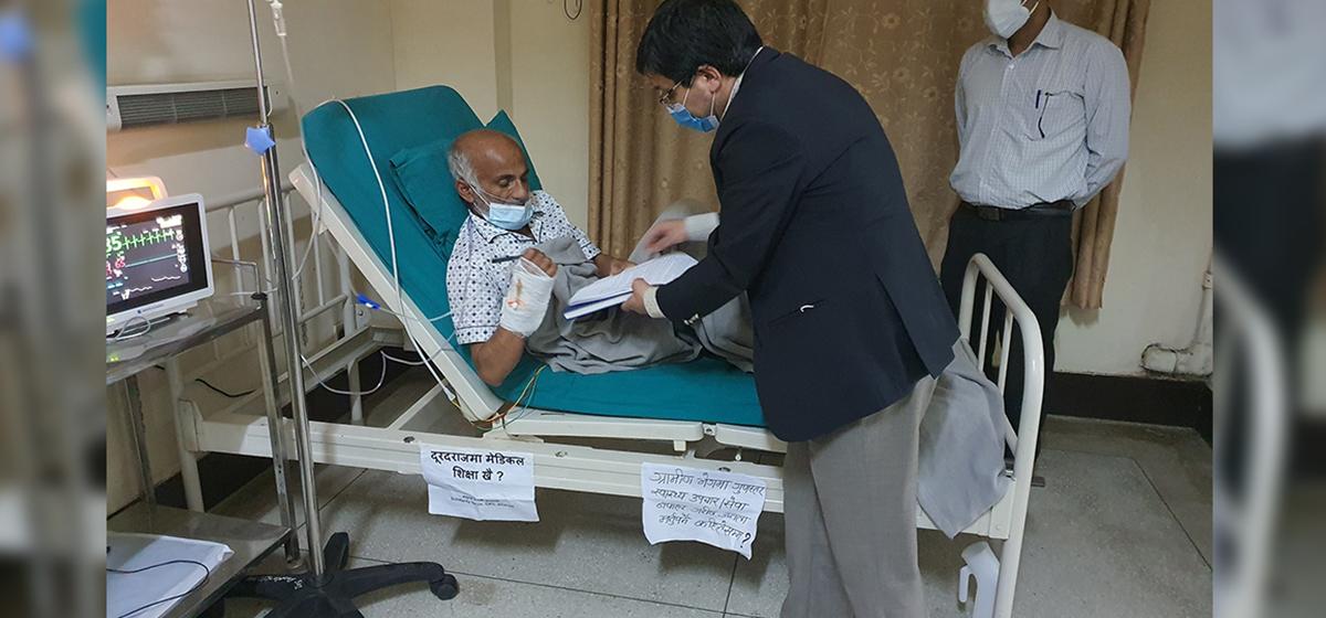 Dr KC breaks his 19th hunger strike