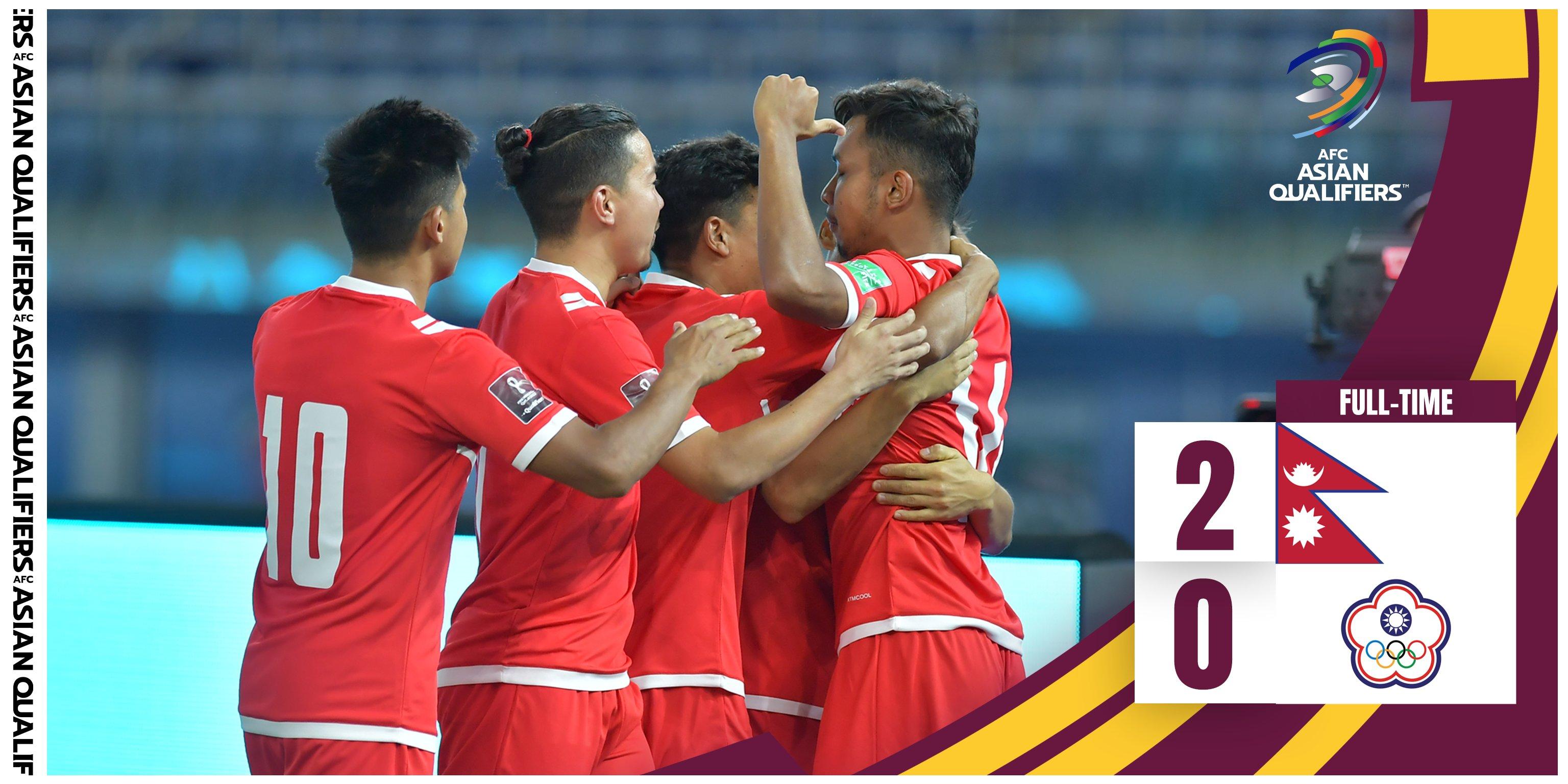 FIFA World Cup Asian Qualifying Match: Nepal beats Chinese Taipei