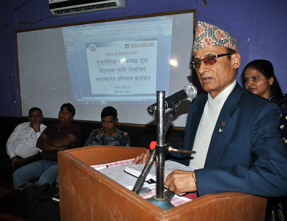 Don't vote for candidate violating election code: Commissioner Poudel