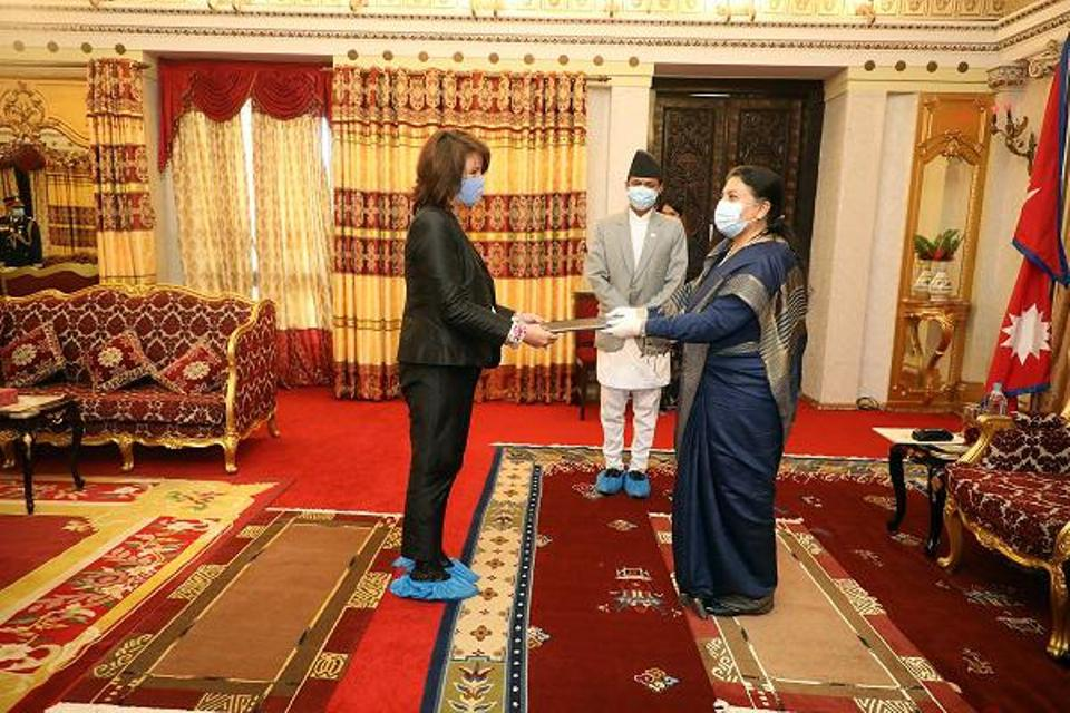 Newly appointed EU envoy presents credentials to President Bhandari