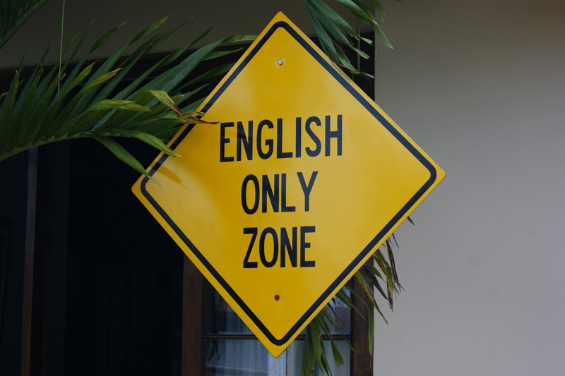 english only or not
