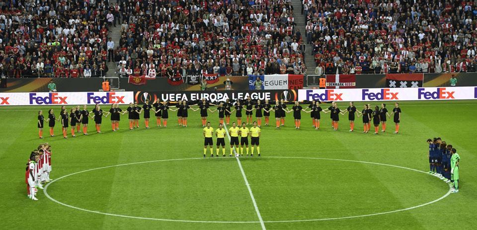 United outclass Ajax to win Europa League on emotional night