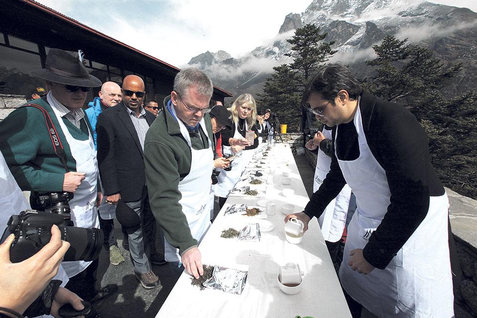Tea tasting event held in Everest region