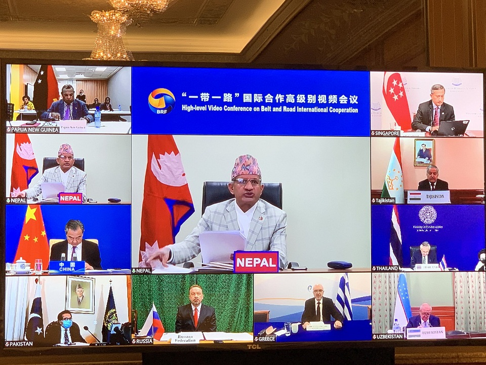 FM Gyawali appreciates Belt and Road Initiative's role in high-quality development in its partner countries