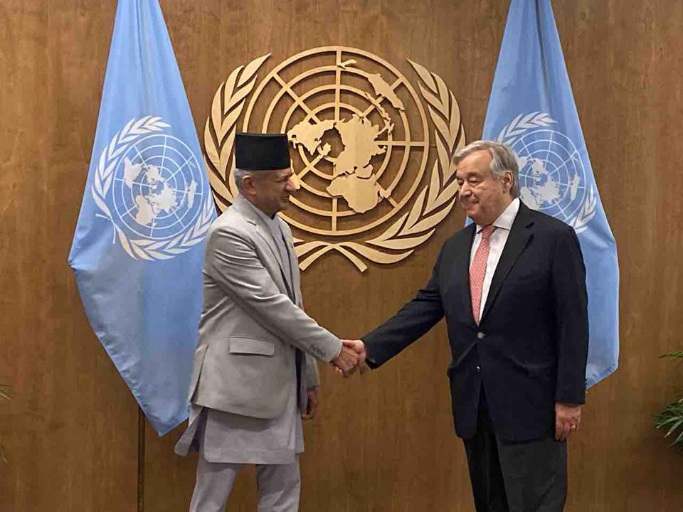 FM Gyawali invites UN Secy General to Sagarmatha Dialogue