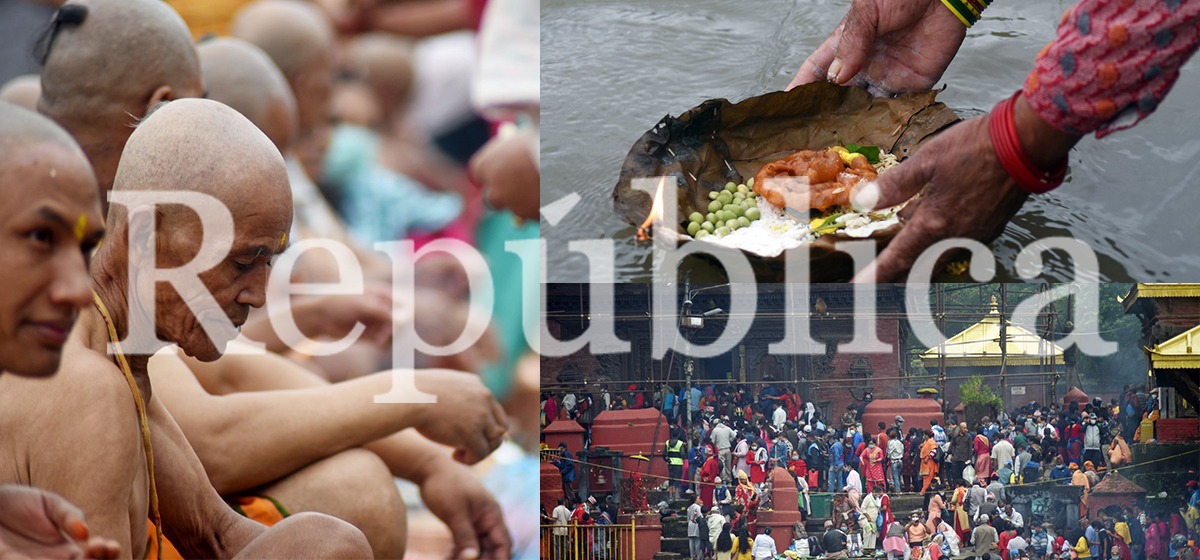 PHOTO FEATURE: People throng at Gokarneshwor to celebrate father's day