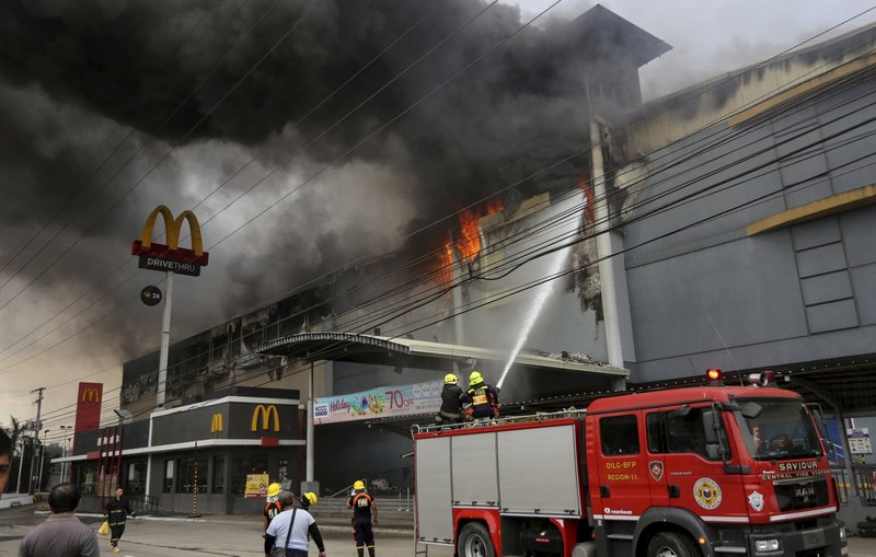 1 body recovered, 36 feared dead in Philippine's mall fire
