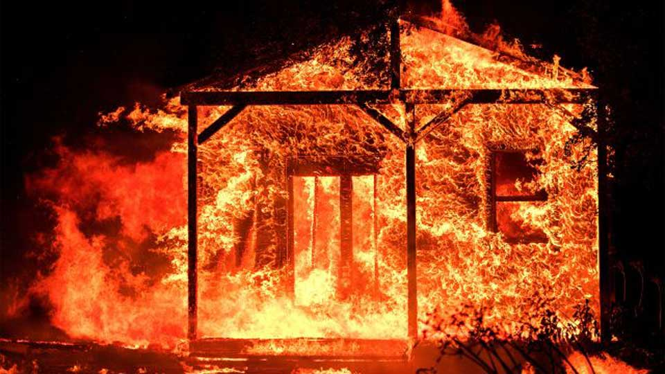 Daughter dead, mother injured in a fire incident