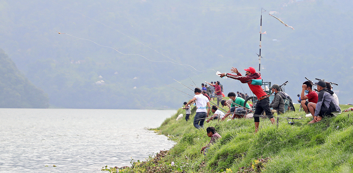 PHOTOS: Fishing craze in Pokhara