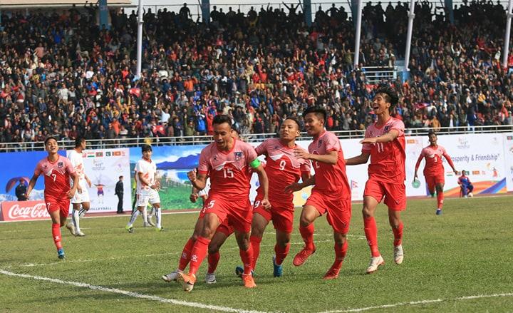 Sujal brace as Nepal thrashes Bhutan