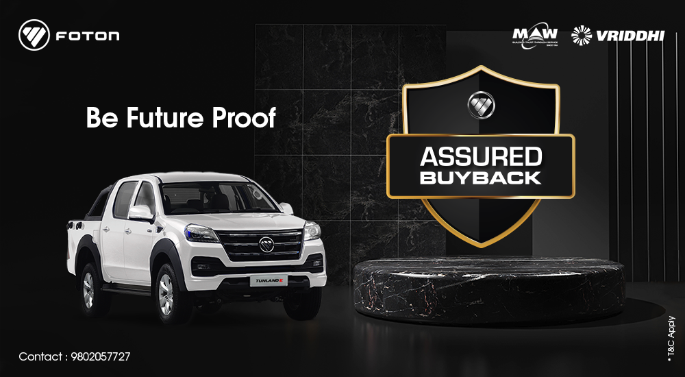 MAW-Vriddhi rolls out 'Assured Buyback Scheme' for Foton pickups