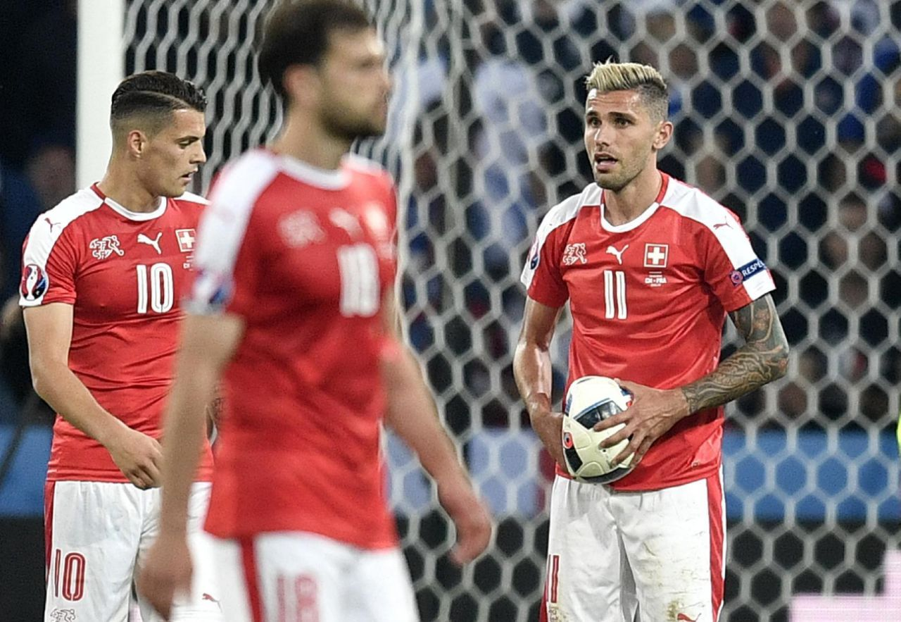 Ripped shirts, a burst ball as France draws 0-0 with Swiss