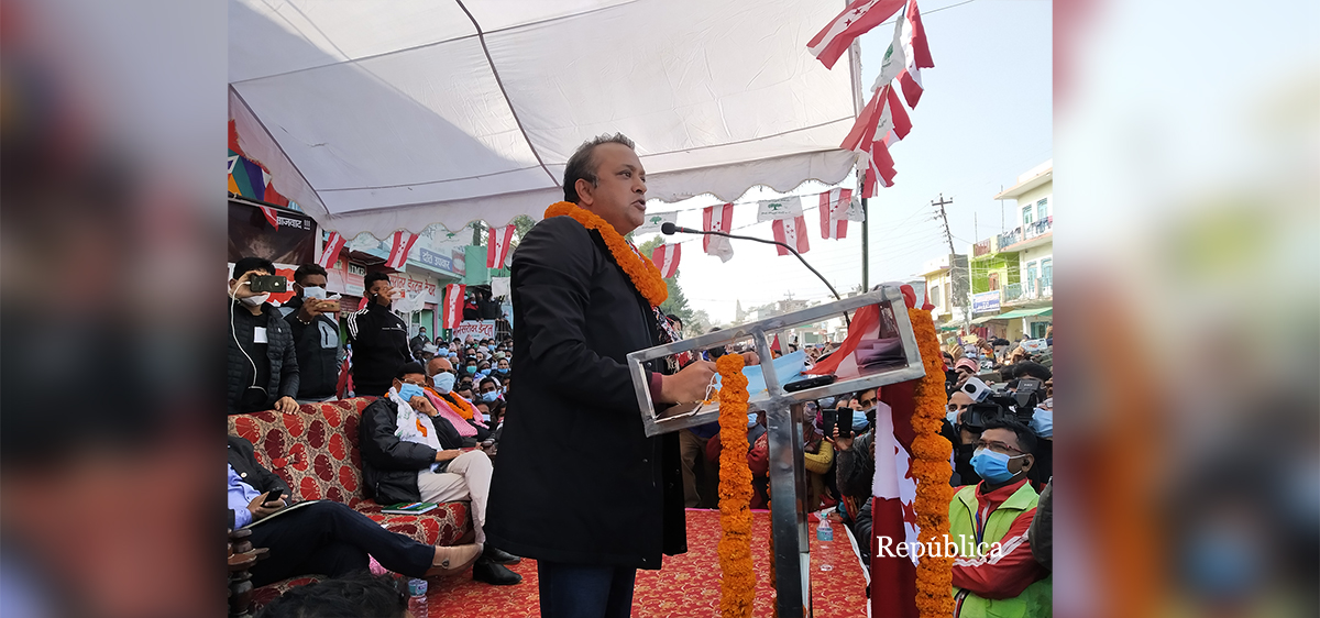 NC leader Gagan Thapa challenges Prez Bhandari to maintain dignity of her post or contest election with him