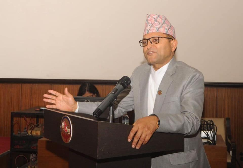 NA Chairman Timilsina holds video conference with MPs