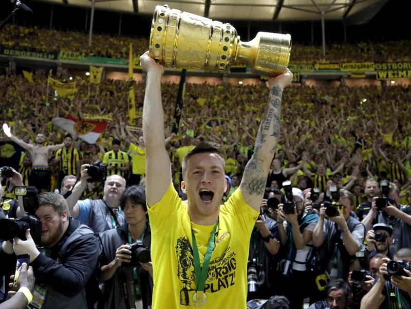 Dortmund beats Frankfurt to win German Cup at 4th attempt