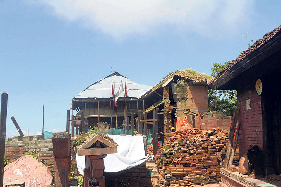 Gorkha Durbar reconstruction slow