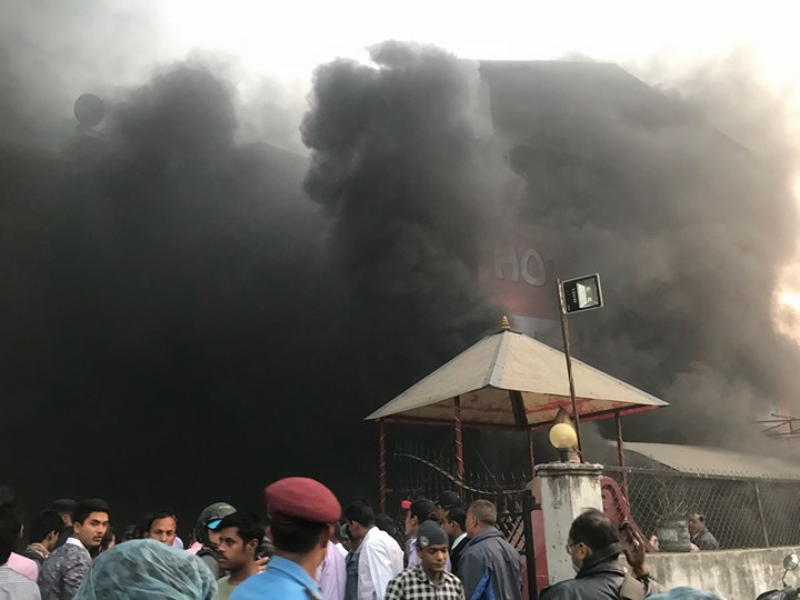 Massive fire at Sundhara-based Gulab Sweet Shop