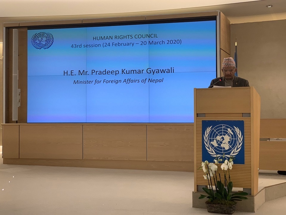 FM Gyawali reiterates Nepal's commitment to address remaining issues of transitional justice