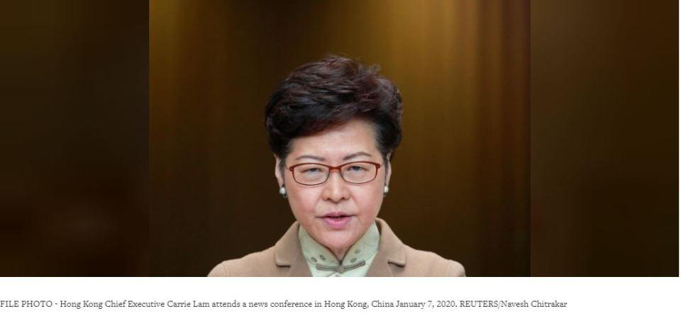 Hong Kong leader says financial hub's strengths intact despite protests