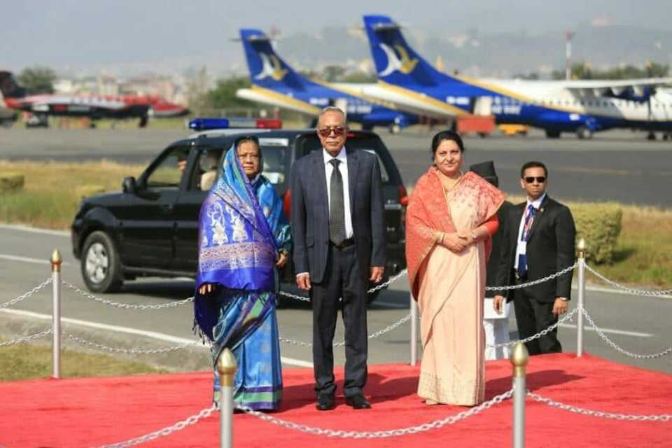 Bangladesh President arrives in Kathmandu on four-day official goodwill visit (with photos)