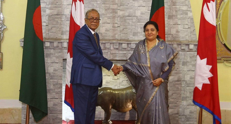 Bangladesh President holds meeting with counterpart Bhandari
